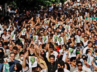صحنهای از تظاهرات روزهای اخیر در تهران