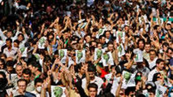 Tens of thousands of supporters of pro-reform leader Mir Hossein Mousavi