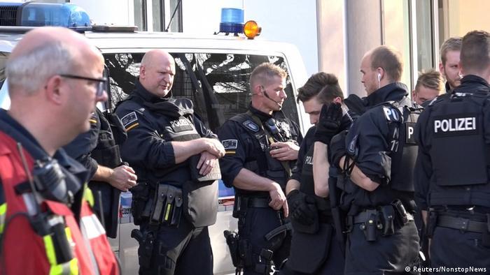 Спецназ полиции в центре Мюнстера