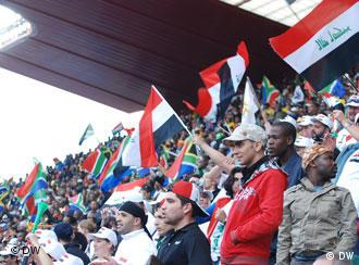 Iraqi and South African fans in Johannseburg during the Confederation Cup in 2009