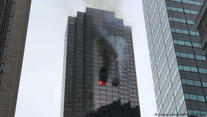 New York Feuer im Trump Tower (picture-alliance/AA/M. Saud Tanil)