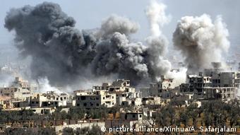 Syrien Ost-Ghoua Duma Artilleriebeschuss