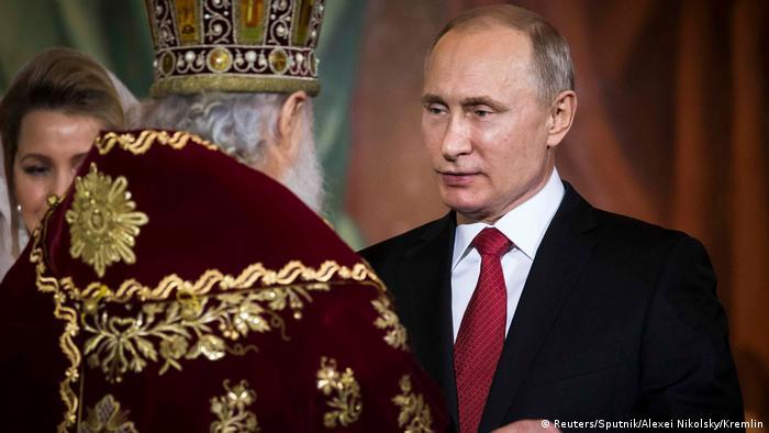 Патриарх Кирилл и президент Владимир Путин