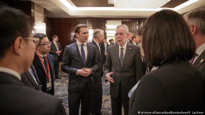China Staatsbesuch Österreichs Bundeskanzler Kurz und Bundespräsident Van der Bellen (picture-alliance/dpa/Bundesheer/P. Lechner)