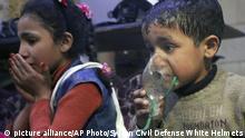 Syrien Kinder werden nach möglichem Giftgaseinsatz in Douma behandelt