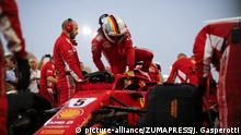 April 8, 2018 - Sakhir, Kingdom of Bahrain - SEBASTIAN VETTEL of Scuderia Ferrari prior to the 2018 FIA Formula 1 Bahrain Grand Prix at Bahrain International Circuit in Sakhir, Kingdom of Bahrain |