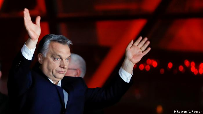 Orban election victory party (Reuters/L. Foeger)