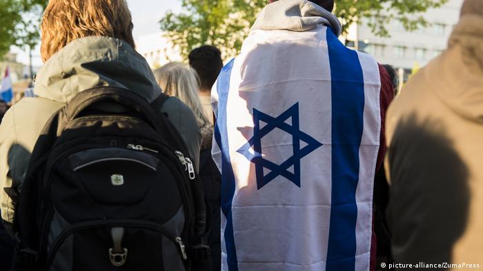 Участники Дня памяти о Холокосте в Берлине в 2018 году