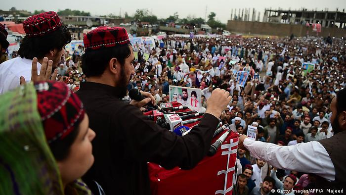 The PTM protest in Peshawar on April 8, 2018