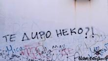 Grafitti in Belgrad, Serbien