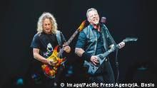Italy: Metallica at Pala Alpitour 2018 The American band Metallica performing live on stage for the first Italian WorldWired Tour concert in Torino at the sold out Pala Alpitour Arena. Turin Italy Pala Alpitour PUBLICATIONxINxGERxSUIxAUTxONLY AlessandroxBosio