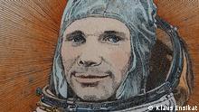 Russland Zeichnung erste bemannte Weltraumfahrt