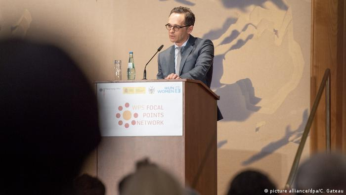 Germany's foreign minister Heiko Maas during the opening of the two day meeting on the UN resolution