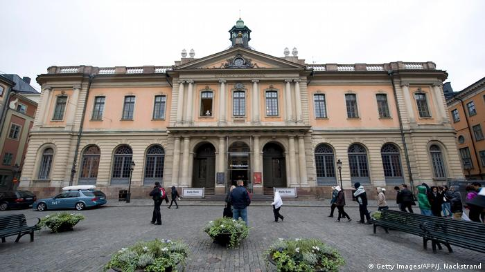 Streetview of the Swedish Academy in Stockholm (Getty Images/AFP/J. Nackstrand)