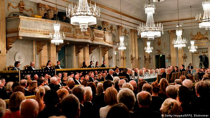 Yearly meeting of the Swedish Academy in Stockholm in 2017 (Getty Images/AFP/J. Ekstromer)