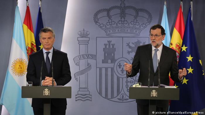 Spanien - Argentinien - Mariano Rajoy und Mauricio Macri (picture alliance/dpa/Europa Press)