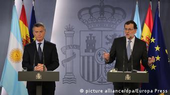 Spanien - Argentinien - Mariano Rajoy und Mauricio Macri