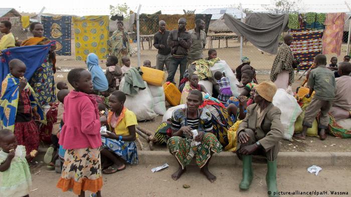 Kongolesen aus Ituri, die Aufnahme in einem Lager im benachbarten Uganda gefunden haben