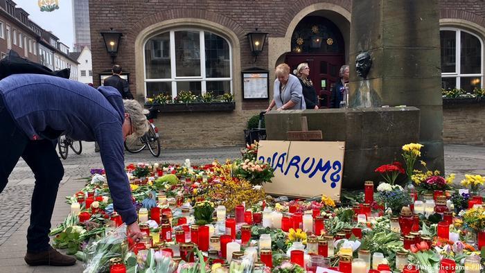 Deutschland Münster Attacke mit Campingbus | Trauer & Gedenken
