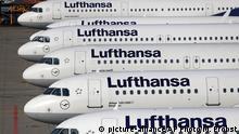 Deutschland Streik am Flughafen Frankfurt