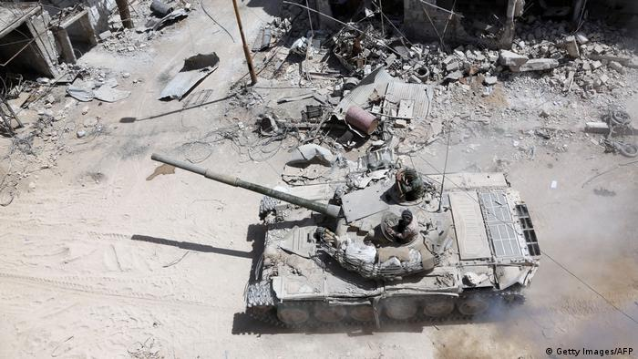 Syrien Duma Armee-Panzer (Getty Images/AFP)