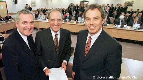 Bertie Ahern, George Mitchell and Tony Blair