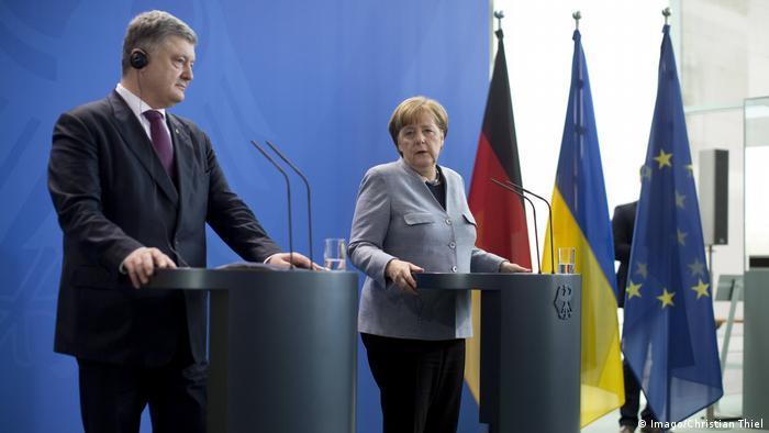 Ангела Меркель и Петр Порошенко в Берлине 10 апреля 2018 года