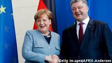 Deutschland Berlin PK Poroschenko Merkel