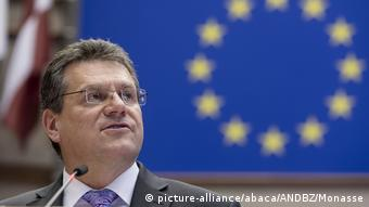 Maros Sefcovic, Slovak presidential candidate and vice-president of the European Commission (picture-alliance/abaca/ANDBZ/Monasse)