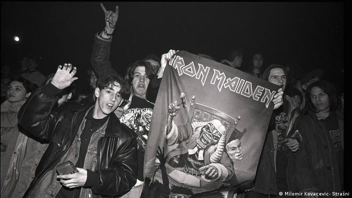 At the 1994 Iron Maiden concert in Sarajevo (Milomir Kovacevic- Strašni)