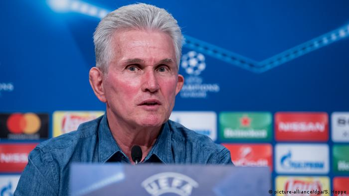 Bayern coach Jupp Heynckes during a press conference, April 10, 2018. (picture-alliance/dpa/S. Hoppe)