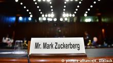 USA: Zuckerberg spricht vor dem US Kongress in Washington
