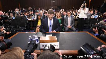 Facebook CEO Mark Zuckerberg arrives to testify in Washington (Getty Images/AFP/J. Watson)