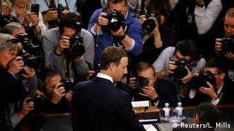 Mark Zuckerberg durante su comparecencia en la Cámara de Representantes.
