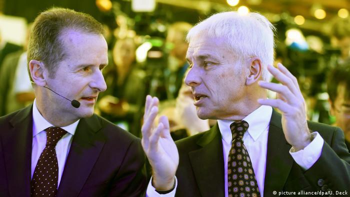 VW's Herbert Diess and Matthias Müller