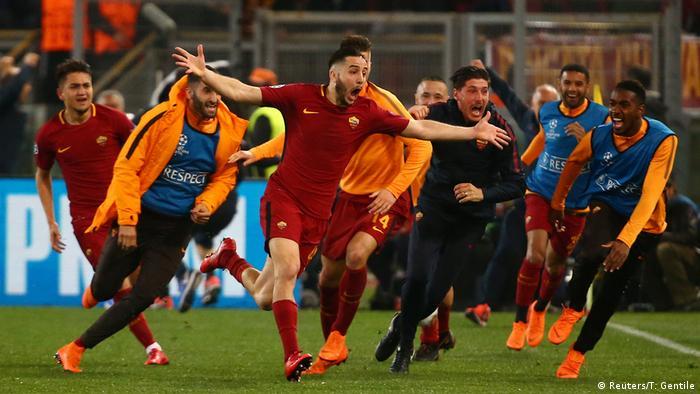 Champions-League AS Roma vs FC Barcelona