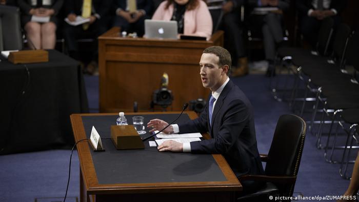 Выступление Марка Цукерберга в американском Конгрессе, 10 апреля 2018 г.