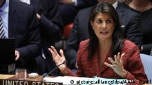 USA Nikki Haley,UN-Sicherheitsrat zu Syrien