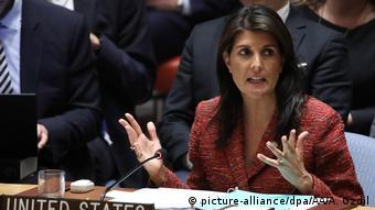 Представниця США Ніккі Хейлі на засіданні Радбезу ООН