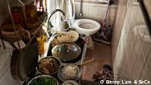Die Wohnungssituation in der chinesischen Sonderverwaltungsregion Hongkong ist katastrophal. Location: Hong Kong Urheberrecht gehört zu: Benny Lam and SoCo (Society for Community Organisation) Datum: 2017 Kontakt:SoCo(Society for Community Organisation)