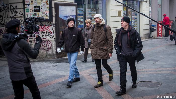 Dreharbeiten zum Film Scream for me, Sarajevo.