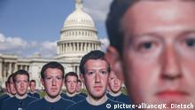 USA: Washington Protest gegen Facebook Avaaz Protestaktion