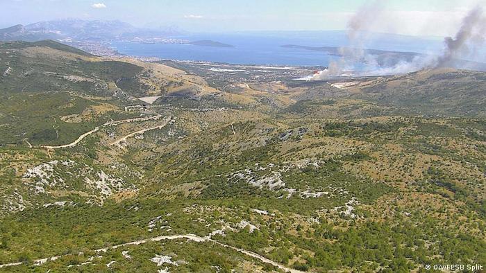 Waldbrände in Kroatien 2017
