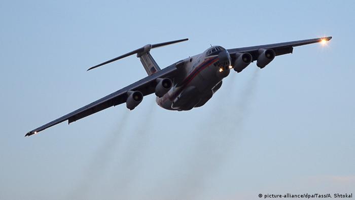 Flugzeug Iljushin Il-76 (picture-alliance/dpa/Tass/A. Shtokal)