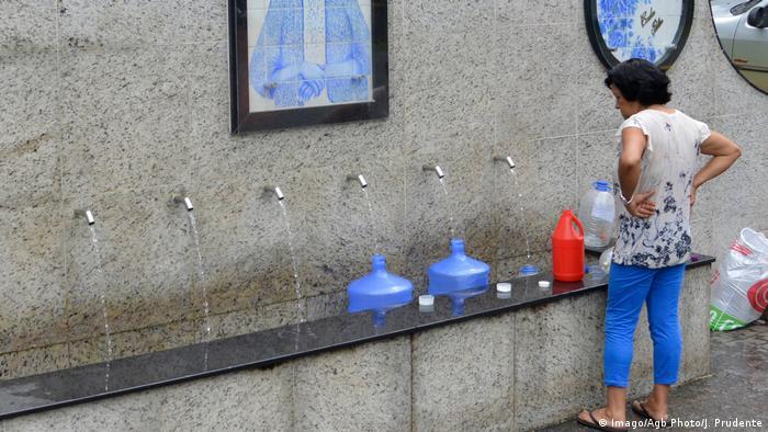 Una fuente pública en São Paulo (Imago/Agb Photo/J. Prudente).