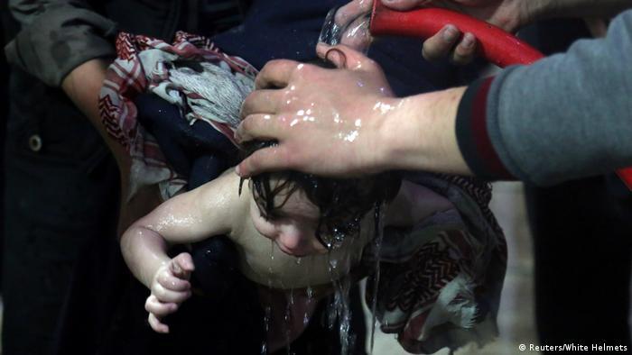 Syrien Mutmaßlicher Giftgasangriff in Duma (Reuters/White Helmets)