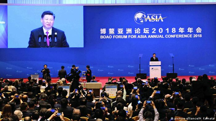China: Boao Forum. Ansprache Xi Jinping (picture-alliance/H. Kamata)