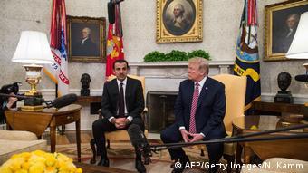 Treffen Donald Trump mit Tamim bin Hamad Al-Thani