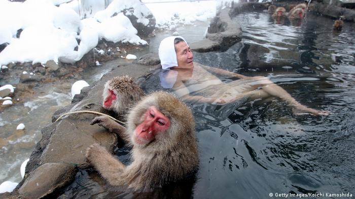 Heiße Quellen in Japan