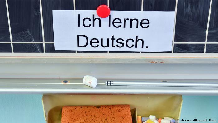 Ich lerne Deutsch - Ja učim njemački, natpis na školskoj ploči